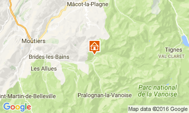 Map Champagny en Vanoise One-room apartment 106489