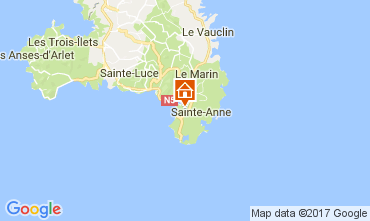 Map Sainte Anne (Martinique) One-room apartment 61497