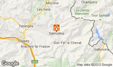 Map Samoëns One-room apartment 80530