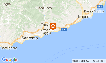 Map Santo Stefano al Mare One-room apartment 112994