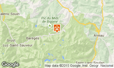 Map La Mongie Apartment 27347
