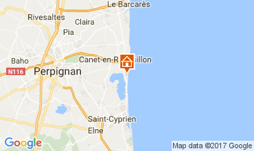 Map Canet Apartment 107887