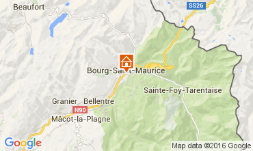 Map Bourg saint Maurice Apartment 106036