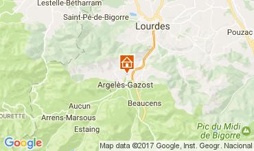 Map Argeles Gazost Vacation rental 17206