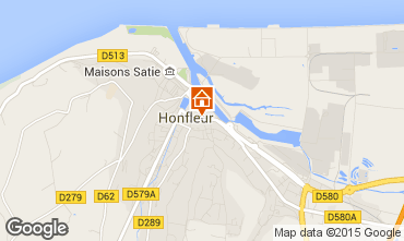 Map Honfleur One-room apartment 77332