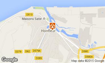 Map Honfleur One-room apartment 77332