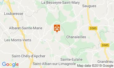 Map Le Malzieu-Forain Vacation rental 11874