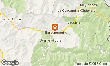 Map Barcelonnette Villa 101058