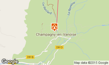 Map Champagny en Vanoise Apartment 69458
