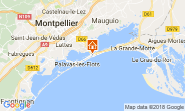 Map Carnon Plage One-room apartment 114489