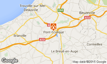 Map Deauville Vacation rental 77536