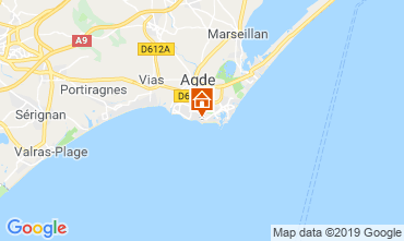 Map Cap d'Agde Apartment 99055