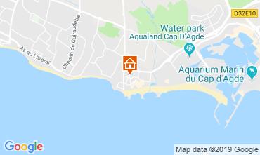 Map Cap d'Agde Apartment 99055