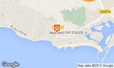 Map Cap d'Agde Villa 38995