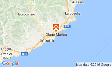 Map Diano Marina Apartment 52276