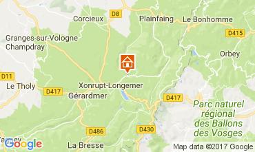 Map Gérardmer Vacation rental 90797