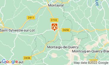 Map Penne d'Agenais Vacation rental 12564