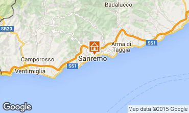 Map Sanremo Apartment 72602