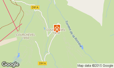 Map Courchevel Apartment 58749