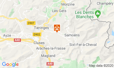 Map Morillon Grand Massif Chalet 55038