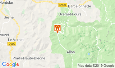 Map Val d'Allos One-room apartment 3203