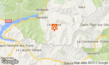 Map Les Orres Chalet 57245