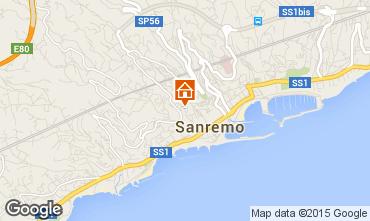 Map Sanremo One-room apartment 78533