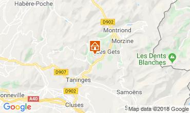 Map Les Gets Apartment 80134