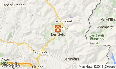 Map Les Gets Apartment 66107