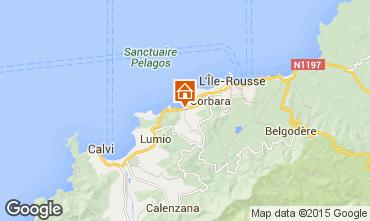 Map Algajola Apartment 95441
