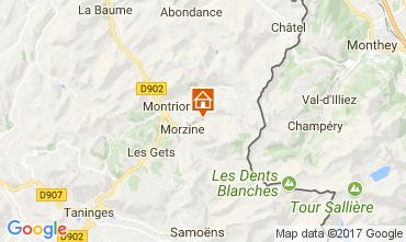 Map Morzine Chalet 112052