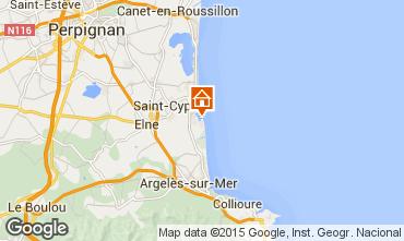 Map Saint Cyprien Plage Apartment 71988