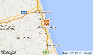 Map Alba Adriatica Apartment 40987