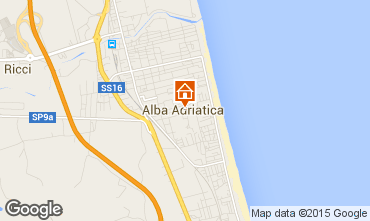 Map Alba Adriatica Apartment 40987