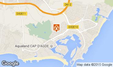 Map Cap d'Agde Apartment 85152
