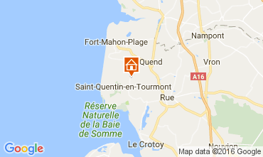 Map Quend Plage Vacation rental 106293