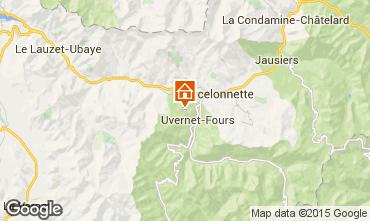 Map Pra Loup Chalet 2335