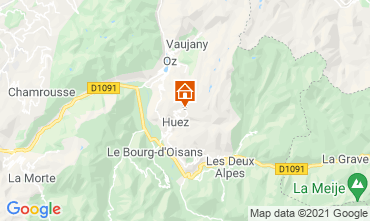 Map Alpe d'Huez One-room apartment 80613