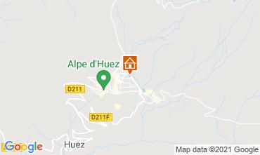 Map Alpe d'Huez One-room apartment 80613