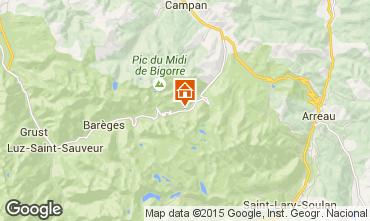 Map La Mongie Apartment 78967