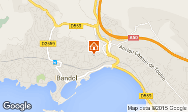Map Bandol One-room apartment 32628