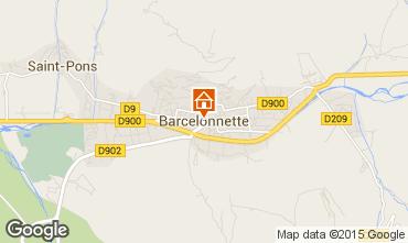 Map Barcelonnette One-room apartment 90072