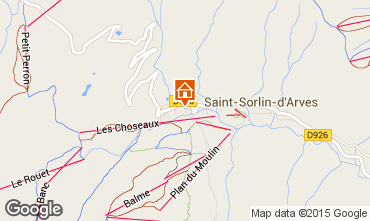 Map Saint Sorlin d'Arves Apartment 2684