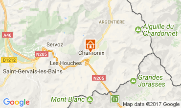 Map Chamonix Mont-Blanc Apartment 112088