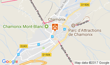 Map Chamonix Mont-Blanc Apartment 112088
