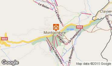 Map Montgenevre House 16964