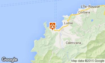 Map Calvi Villa 28209