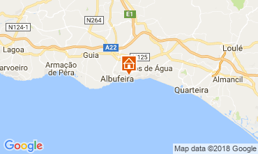 Map Albufeira Apartment 113837