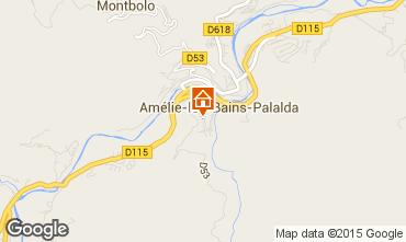 Map Amélie-Les-Bains One-room apartment 14395