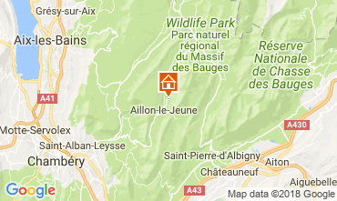 Map Les Aillons Vacation rental 115914
